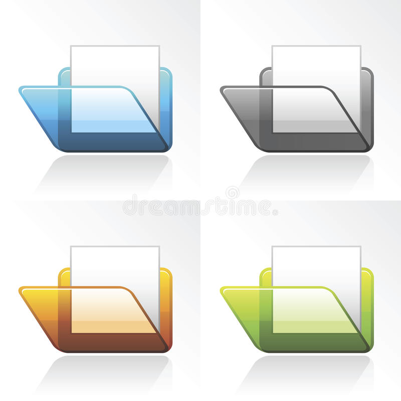 Vector ícones do dobrador 3D ilustração stock