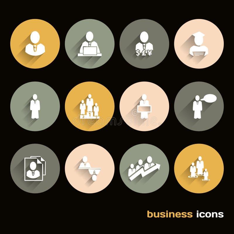 Vector ícones lisos do projeto para a Web e o negócio ilustração stock