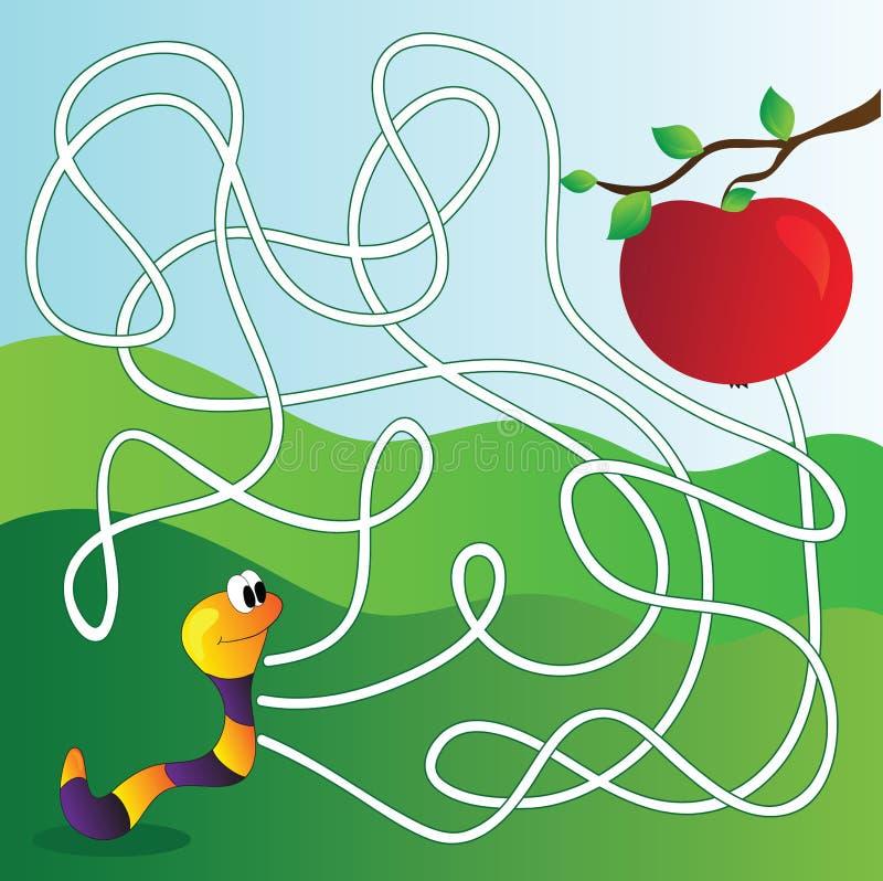 Vector лабиринт, игра образования лабиринта для детей иллюстрация вектора