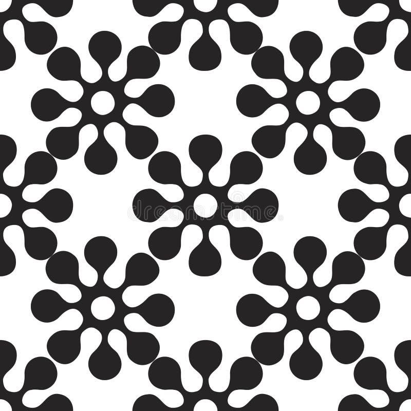 Vector абстрактная безшовная картина заплатки с геометрическими и флористическими орнаментами, бесплатная иллюстрация