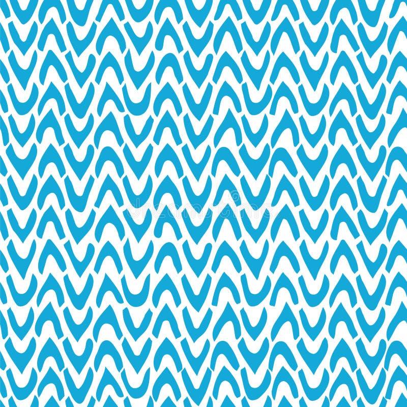 Vector абстрактная безшовная картина с шевроном нарисованным рукой тикания иллюстрация вектора
