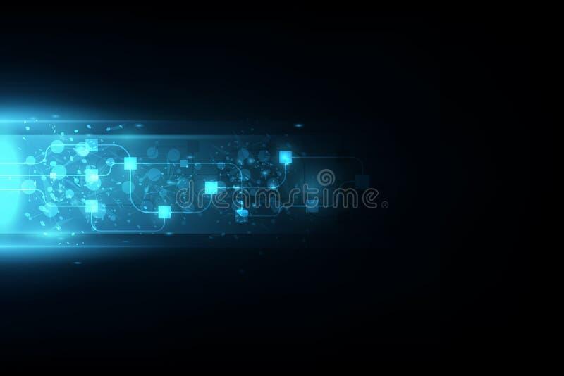 Vector абстрактная будущая технология, электрическая предпосылка телекоммуникаций иллюстрация вектора