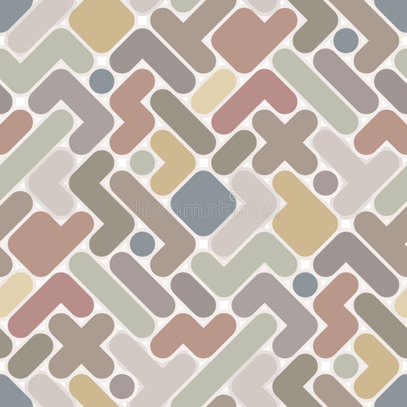 Vector абстрактная картина - винтажный безшовный свет c бесплатная иллюстрация
