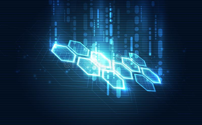 Vector абстрактная футуристическая монтажная плата, цвет сини цифровой технологии иллюстрации высокий иллюстрация штока