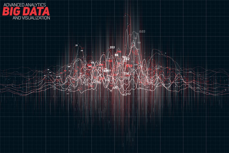 Vector абстрактное красочное финансовое большое визуализирование диаграммы данных Дизайн футуристического infographics астетическ бесплатная иллюстрация