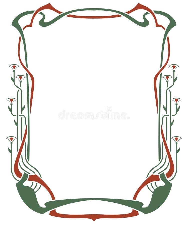 Vector абстрактные рамки от связанных линий и заводов иллюстрация штока