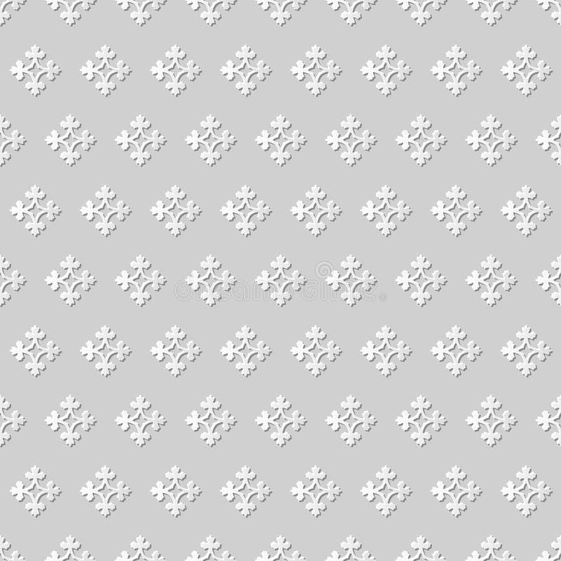 Vector антиквариата предпосылки 266 картины искусства бумаги 3D штофа цветок безшовного перекрестный иллюстрация вектора
