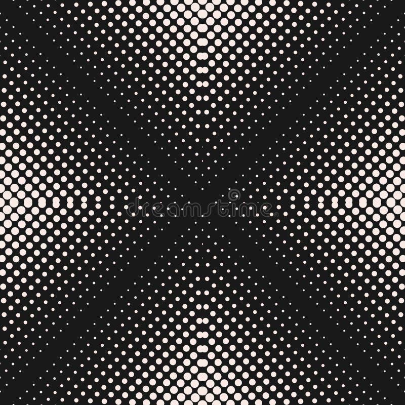 Vector безшовная картина, визуальное переходной эффект полутонового изображения постепенно иллюстрация штока
