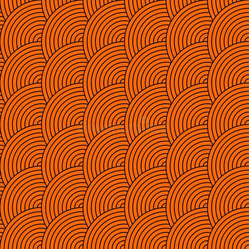 Vector безшовная картина кругов в стиле squama бесплатная иллюстрация