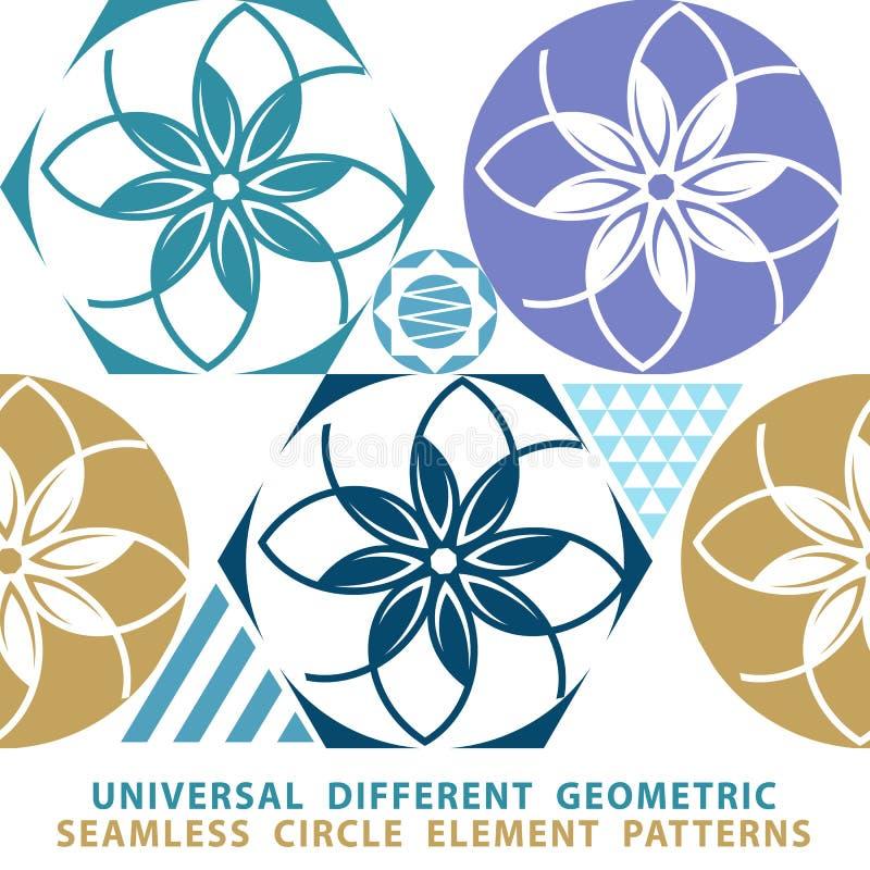 Vector безшовная предпосылка заплатки от синих и белых орнаментов, геометрических картин, бесплатная иллюстрация