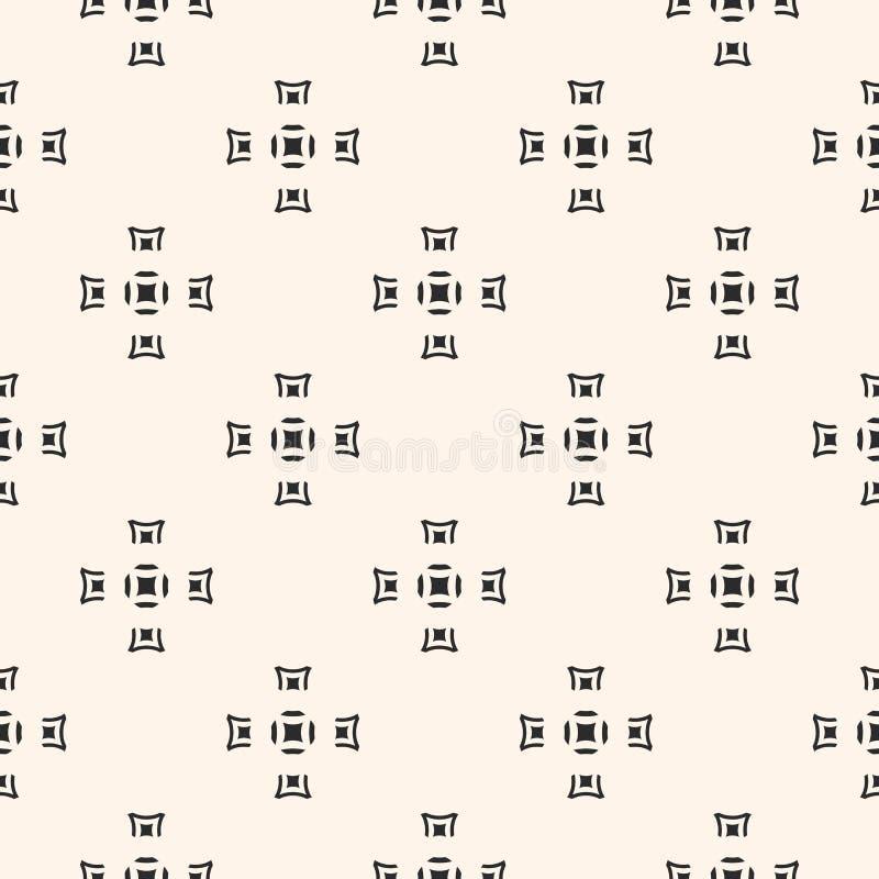 Vector безшовная текстура, геометрическая monochrome картина, квадрат иллюстрация вектора