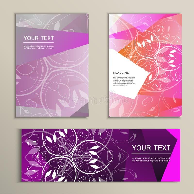 Vector брошюра и знамя шаблона с абстрактными треугольниками бесплатная иллюстрация