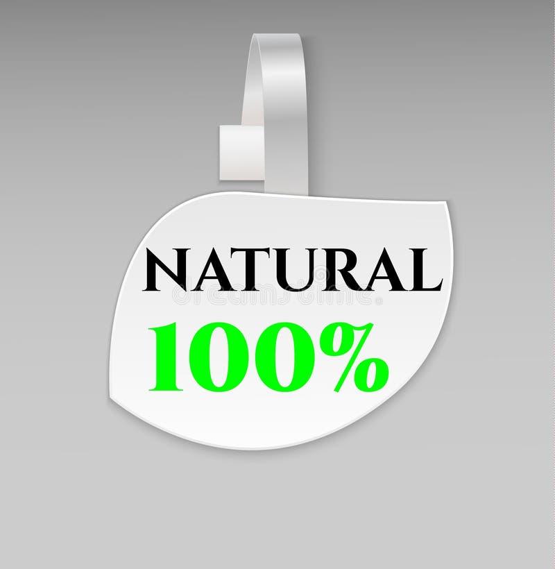 Vector вид спереди wobbler цены рекламы пустого eco лист формы белого естественное бумажное пластичное Изолировано на предпосылке иллюстрация вектора