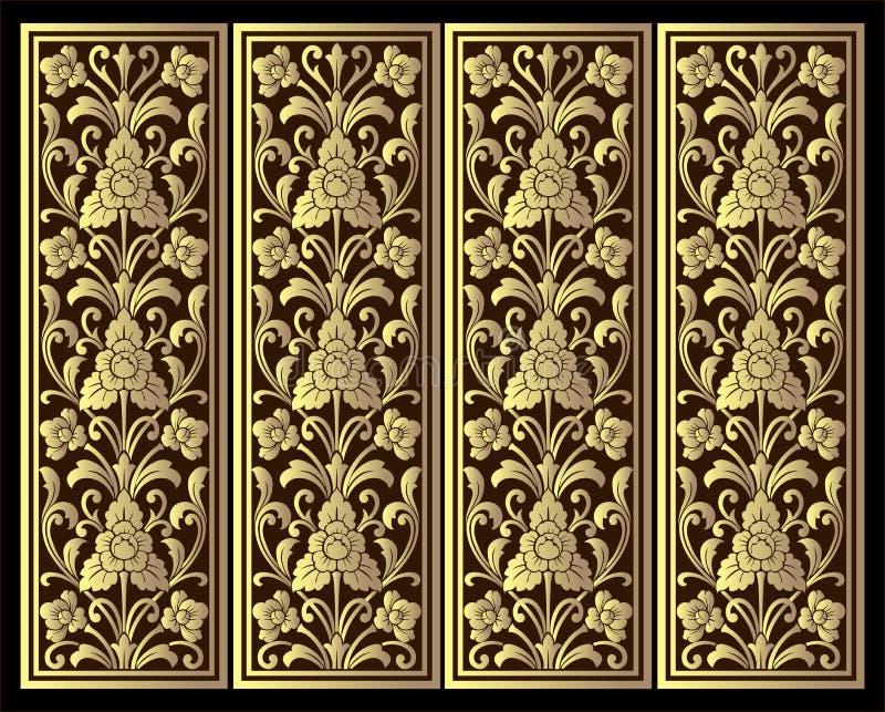 Vector винтажная гравировка рамки границы с ретро вектором орнамента стоковая фотография rf