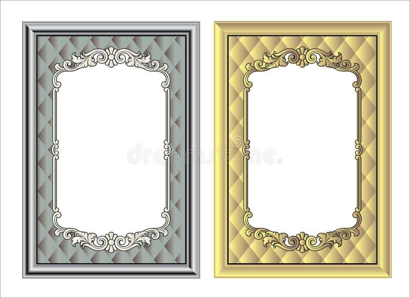 Vector винтажная гравировка рамки границы с ретро вектором орнамента стоковые фото