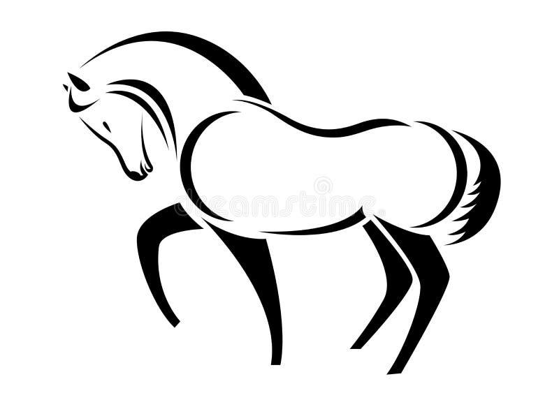 Головка вектора лошади иллюстрация штока