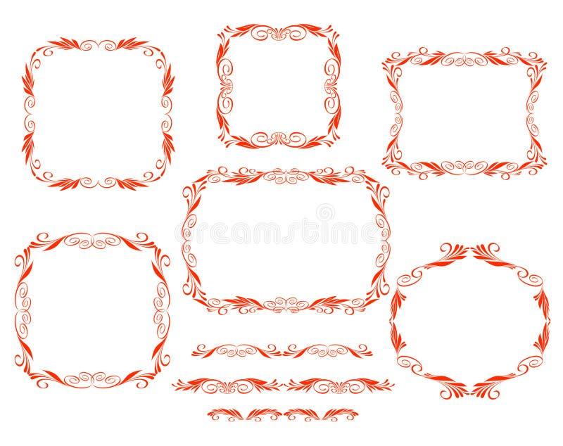 Vector декоративные рамки иллюстрация штока