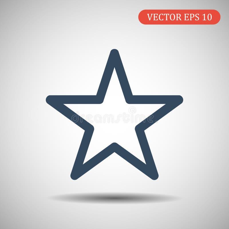 Vector звезда зеленого стекла Голубая иллюстрация цвета иллюстрация штока