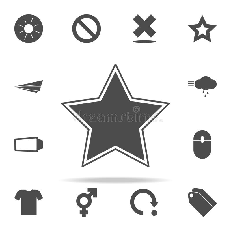 Vector звезда зеленого стекла комплект значков сети всеобщий для сети и черни иллюстрация штока