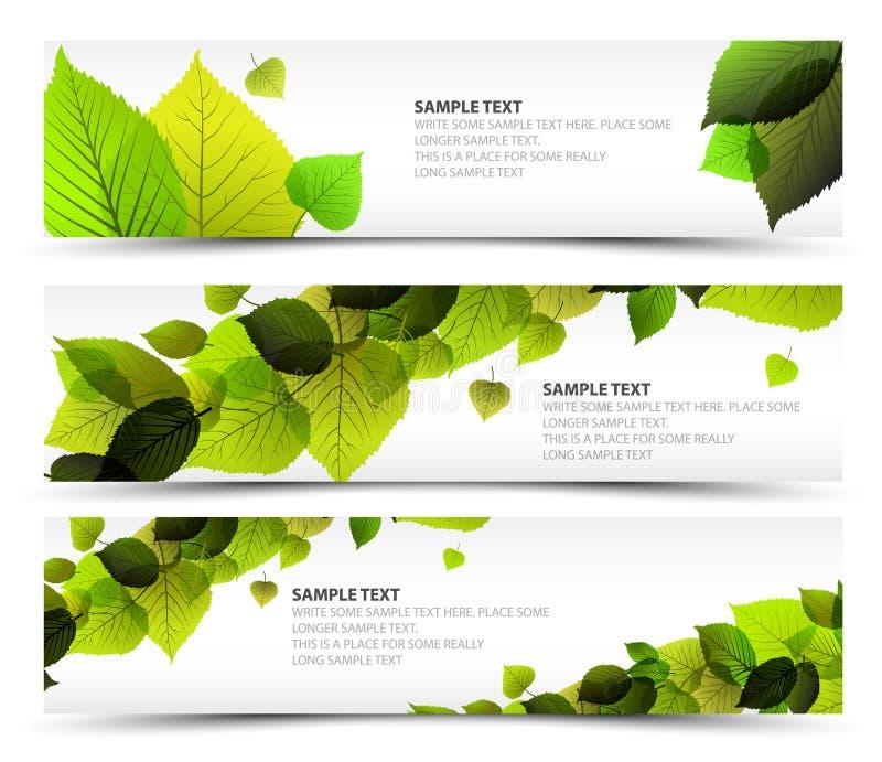 Vector знамена свежей весны горизонтальные бесплатная иллюстрация