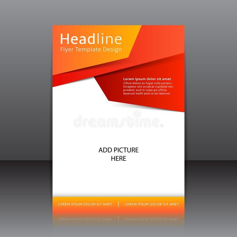 Vector дизайн оранжевой рогульки, крышка, брошюра, плакат, отчет с местом для текста иллюстрация штока