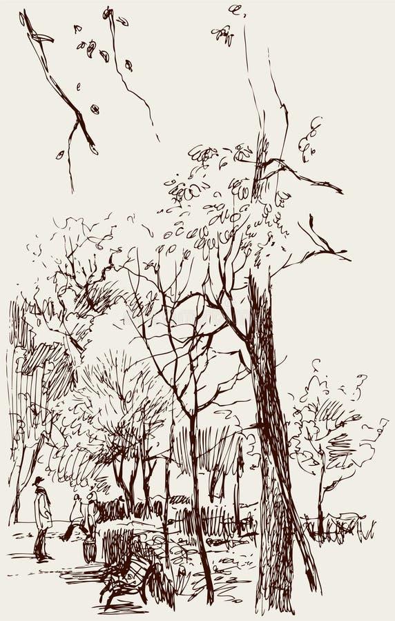 Парк города бесплатная иллюстрация