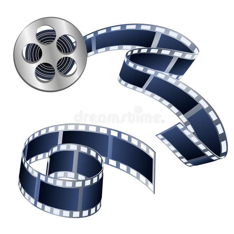 Vector иллюстрация видеолент и фильмов изолированных на белизне иллюстрация вектора