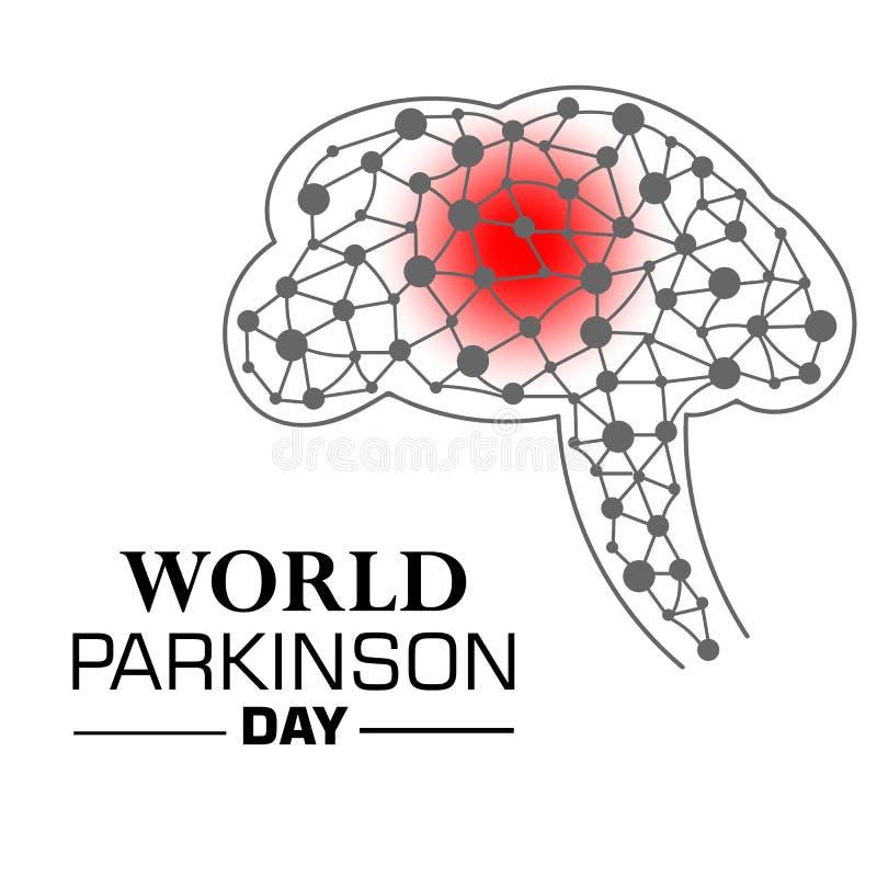 Vector иллюстрация знамени на день ` s Parkinson мира иллюстрация вектора