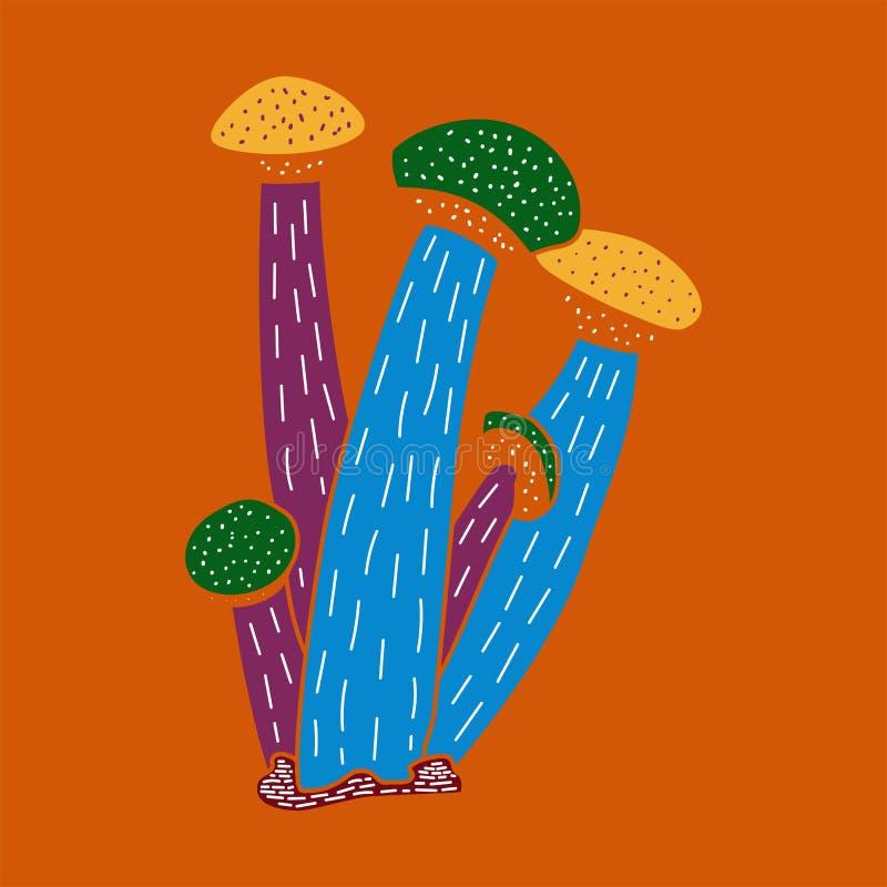 Vector иллюстрация милой чашек нарисованных рукой шиповатых бесплатная иллюстрация