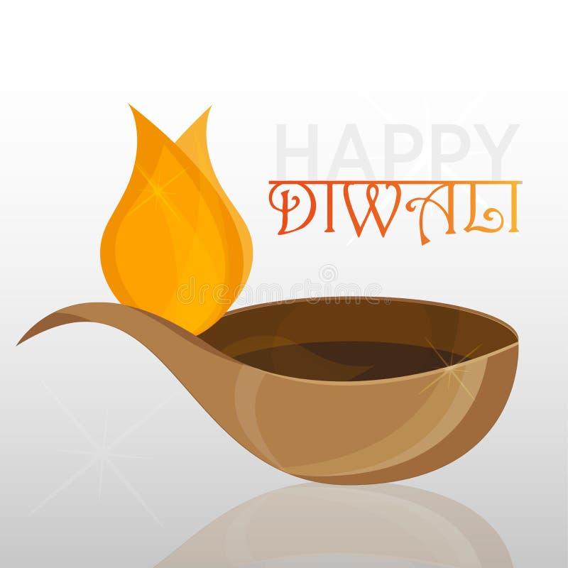 Vector иллюстрация на теме традиционного торжества счастливого diwali бесплатная иллюстрация