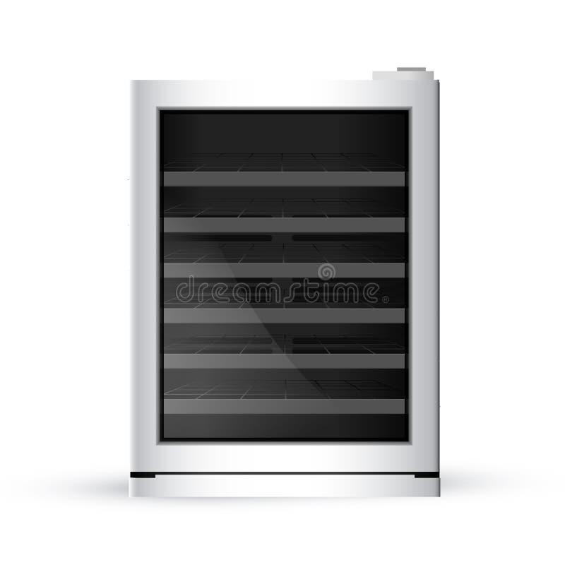 Vector иллюстрация современного реалистического frige на белом backgrou бесплатная иллюстрация