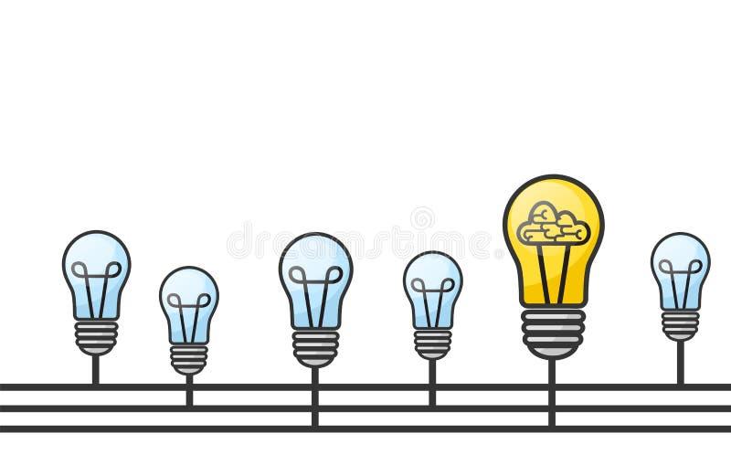 Vector иллюстрация grunge с электрическими лампочками и установите для текста бесплатная иллюстрация