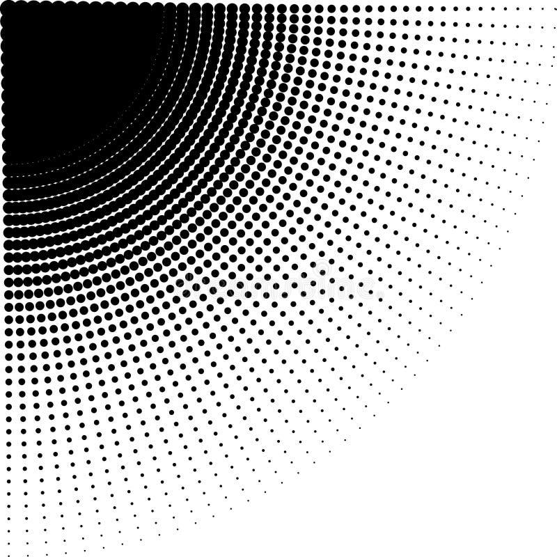 Vector интенсивные умаляя точки полутонового изображения в направлении округлять стоковое изображение rf