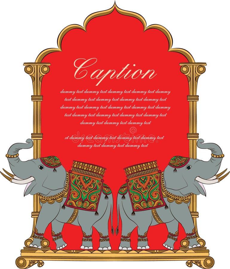 Vector искусство королевского слона в индийском стиле искусства бесплатная иллюстрация