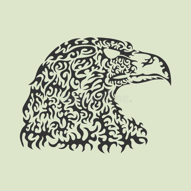 Vector иллюстрация головы орла сделанной сделанных по образцу элементов иллюстрация вектора