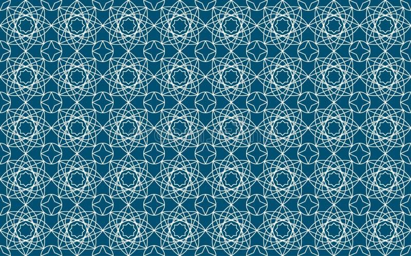 Vector иллюстрация исламской безшовной картины с аравийским орнаментом бесплатная иллюстрация