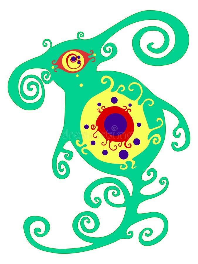 Vector иллюстрация красивого животного фантазии искусства иллюстрация вектора