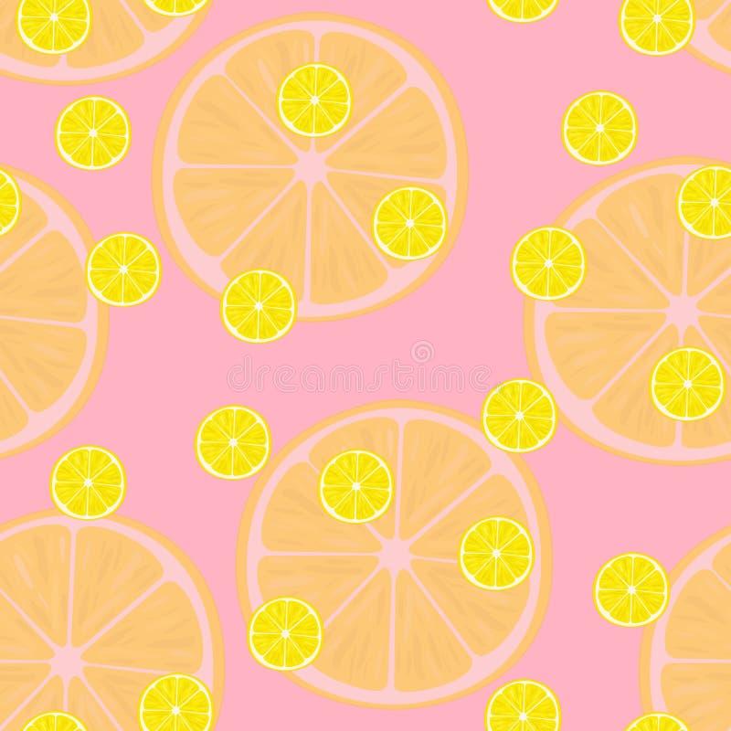 Vector иллюстрация кусков лимона в одинаковых размерах на пинке Картина иллюстрация штока