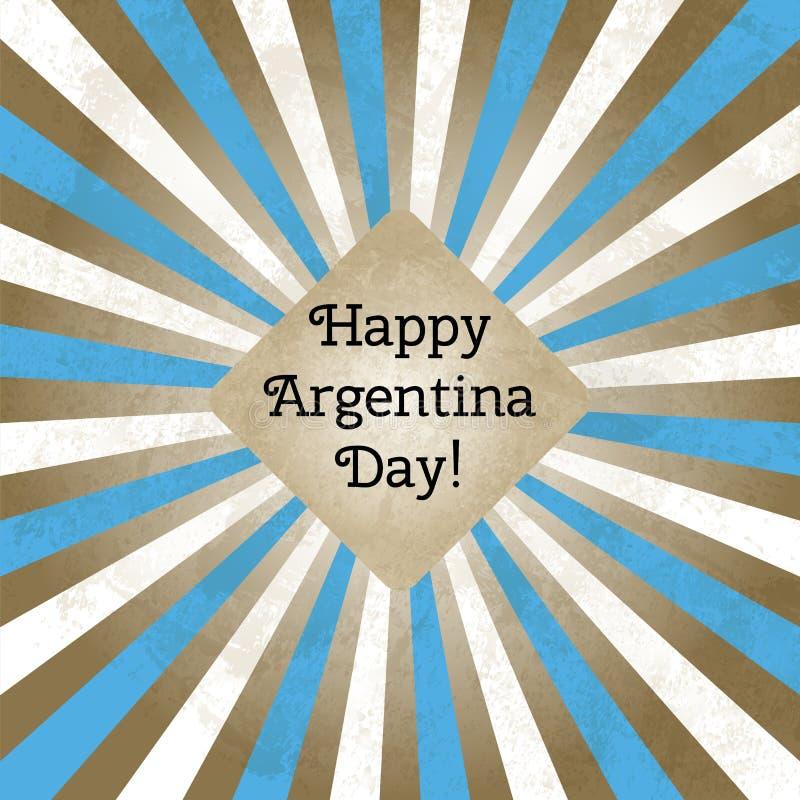 Vector иллюстрация на день Аргентины, ретро поздравительной открытки стиля Конструируйте шаблон для плаката, знамени, flayer иллюстрация штока