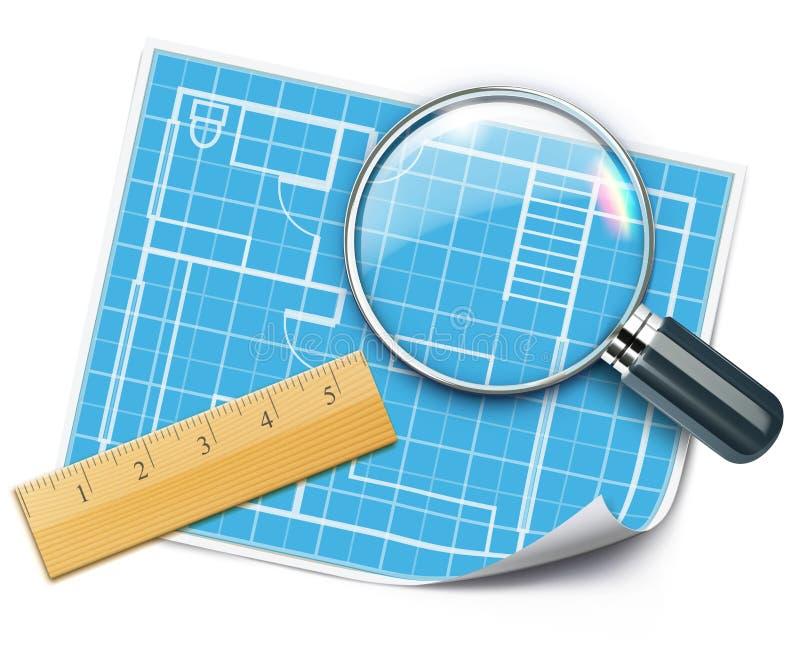 Принципиальная схема запланирования плана дома бесплатная иллюстрация