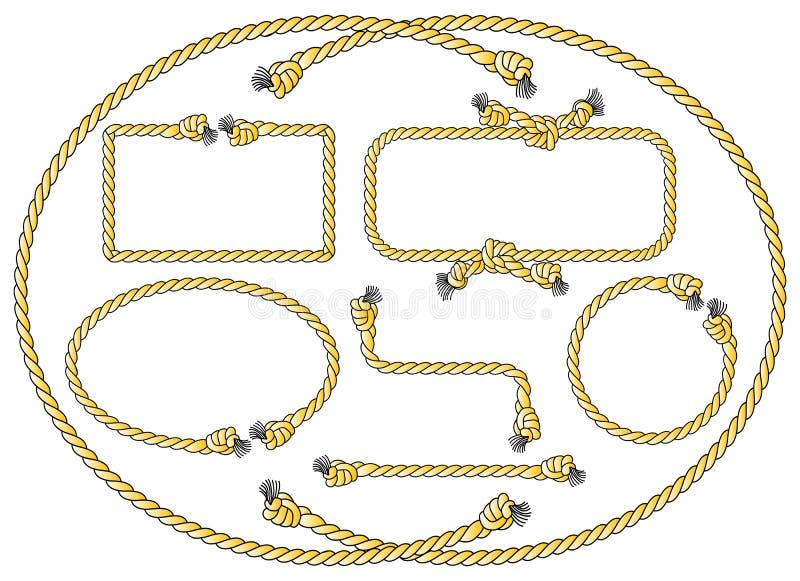 Рамки веревочки иллюстрация вектора