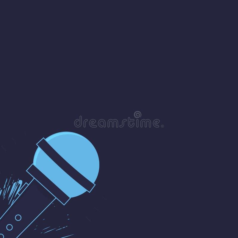 Vector иллюстрация стойте вверх комедия в ночном клубе для дизайна иллюстрация штока
