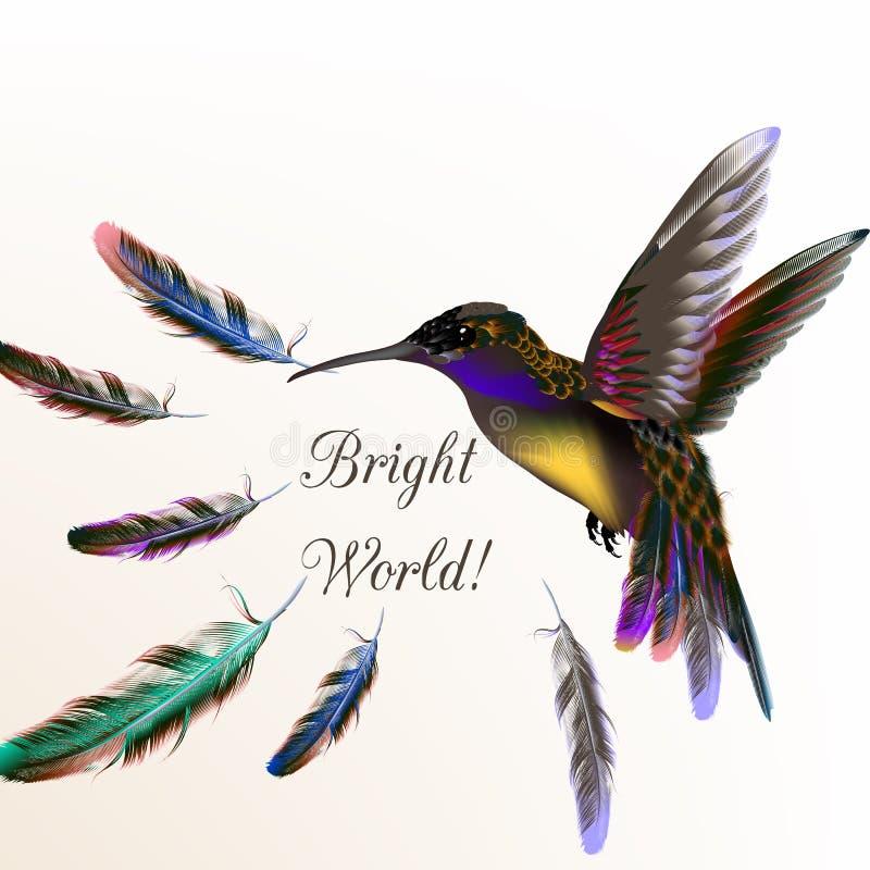 Vector иллюстрация с реалистической птицей припевать для дизайна бесплатная иллюстрация