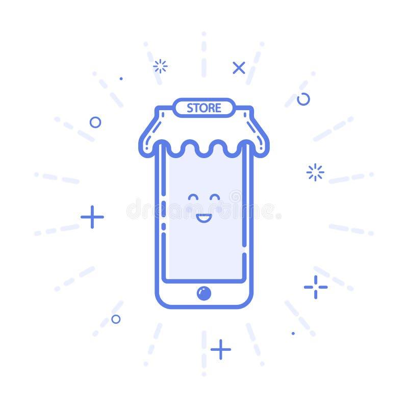 Vector иллюстрация щедрот или подарка концепции покупок значка в линии стиле бесплатная иллюстрация