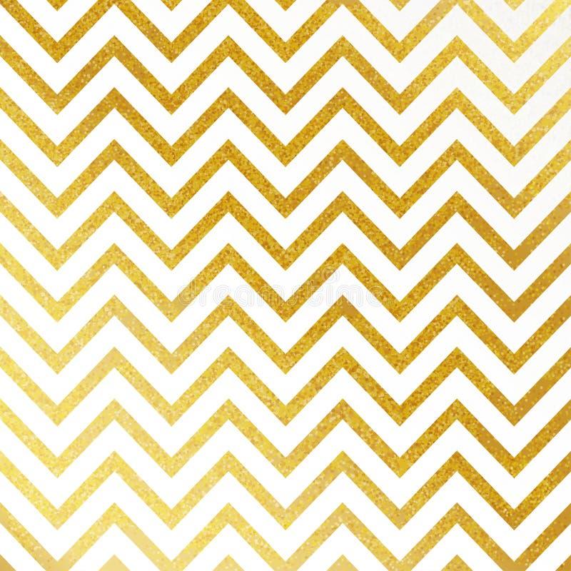 Vector картина геометрического золота блестящая безшовная на белой предпосылке иллюстрация вектора