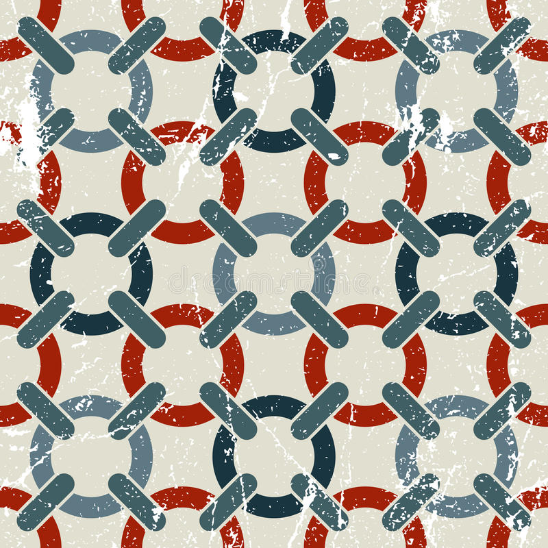 Vector картина геометрического конспекта ткани безшовная, запятнанное столкновение иллюстрация вектора