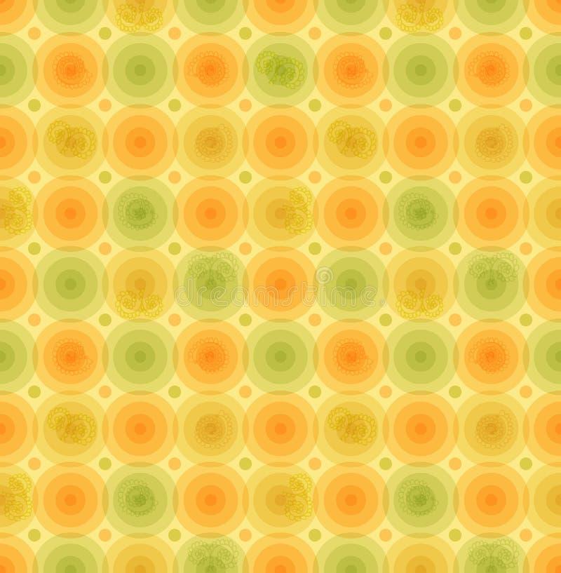 Vector картина multicolor ретро предпосылки винтажная с шаблоном лоснистых кругов геометрическим для обоев, крышек иллюстрация штока