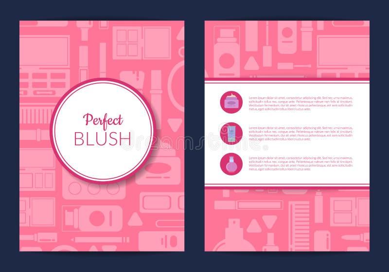 Vector карточка, рогулька, шаблон брошюры для бренда красоты бесплатная иллюстрация
