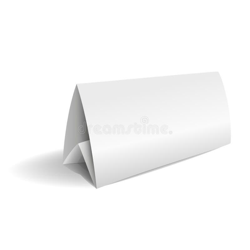 Vector карточка таблицы 3d бумажная изолированная на белой предпосылке иллюстрация штока