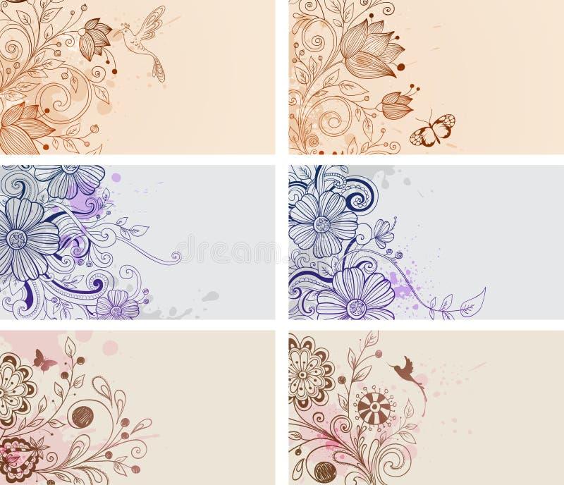 Карточки год сбора винограда иллюстрация вектора